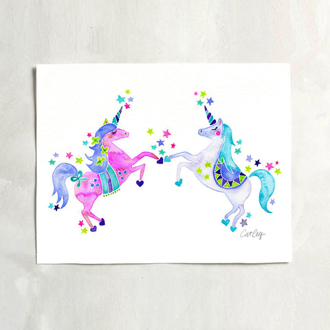 Unicorns – Pastel Palette • Art Print