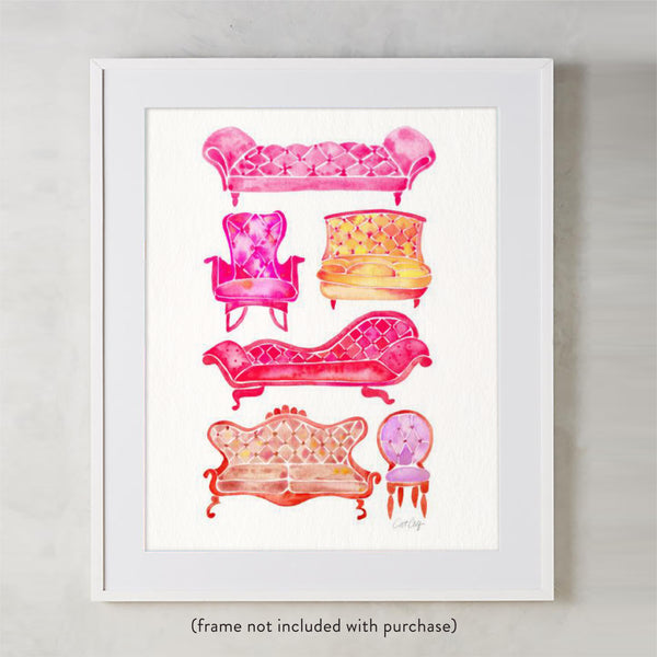Victorian Lounge – Pink Palette • Art Print