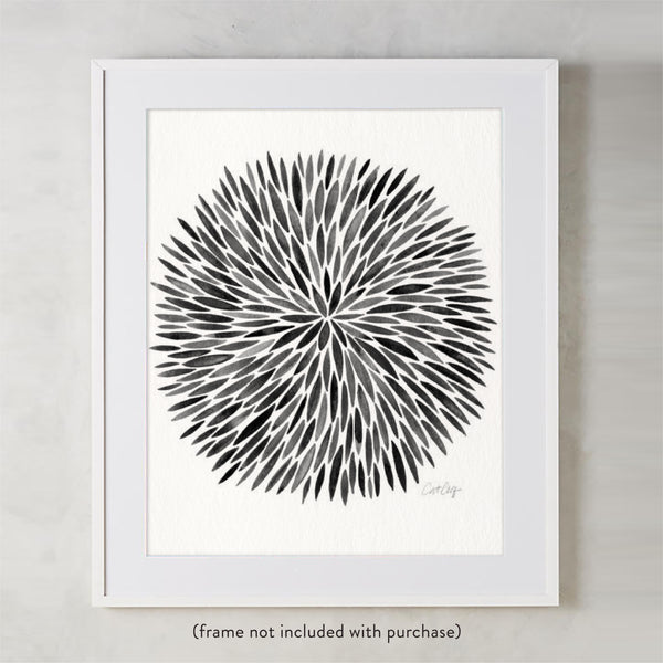 Watercolor Burst – Black Palette • Art Print
