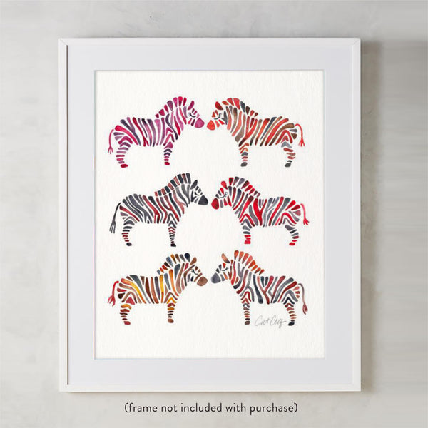 Zebra Collection – Rainbow Palette • Art Print