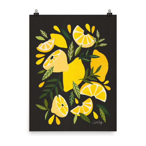 Lemon Blooms - Charcoal