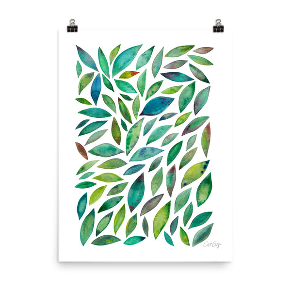 Diamond Leaves - Green