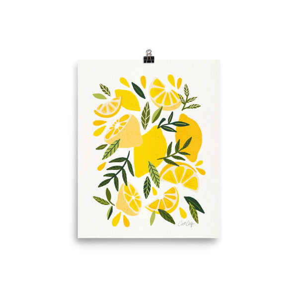 Lemon Blooms - Yellow and White
