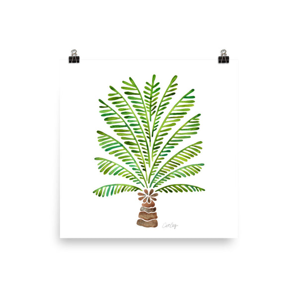 Bali Palm Tree – Green Palette • Art Print