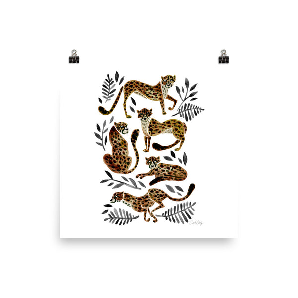 Cheetah Collection – Mocha & Black Palette • Art Print
