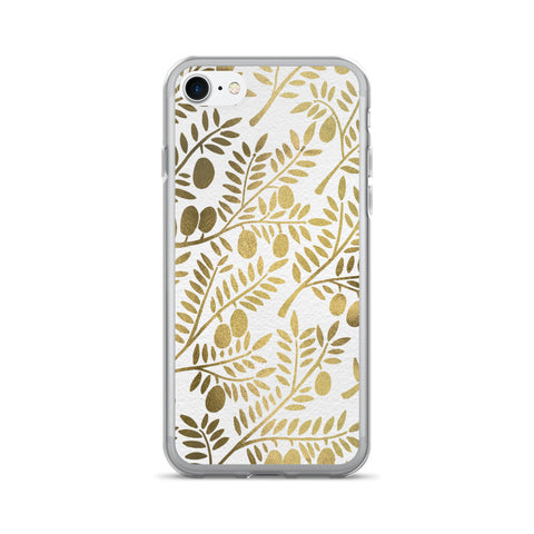 Olive Branches – Gold Palette • iPhone 7/7 Plus Case