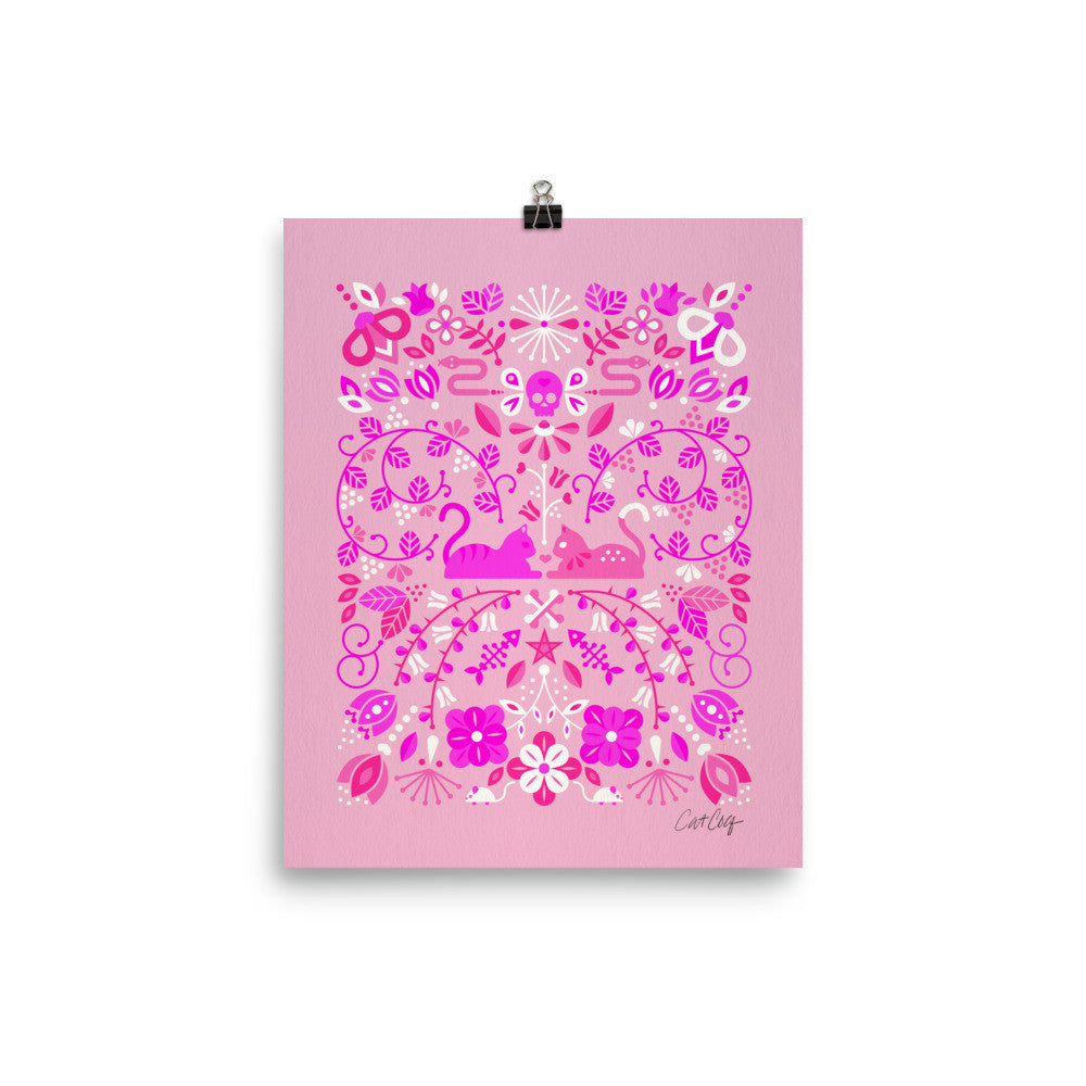 Kitten Lovers – Pink Palette • Art Print