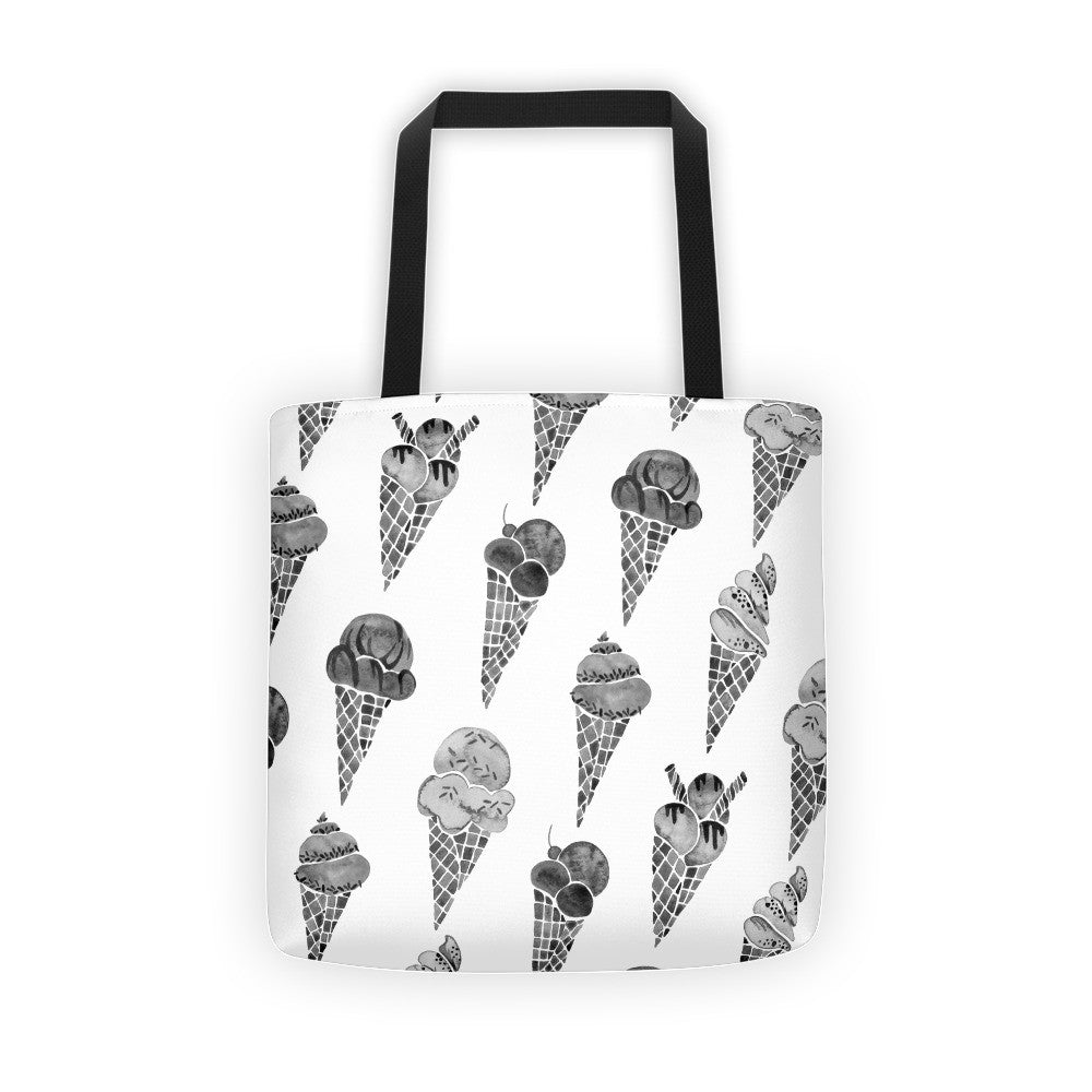 Ice Cream Cones – Black Palette • Tote Bag