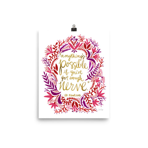 Anything's Possible – Pink & Gold Palette • Art Print