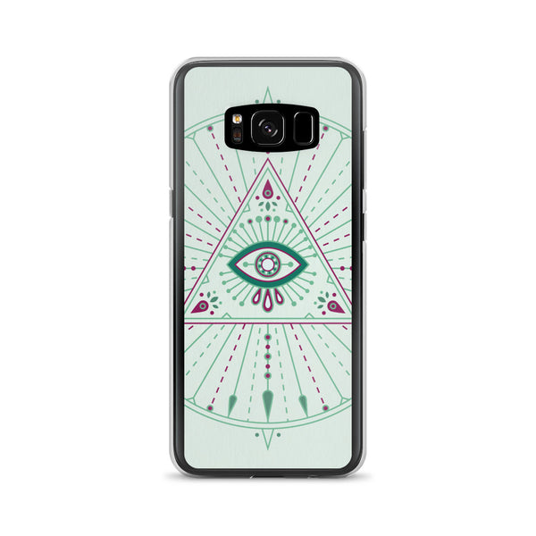 All-Seeing Eye Mandala – Mint Palette • Samsung Case