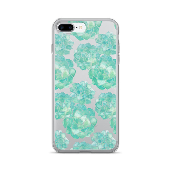 Rosette Succulents – Mint Palette • iPhone 7/7 Plus Case (Transparent)