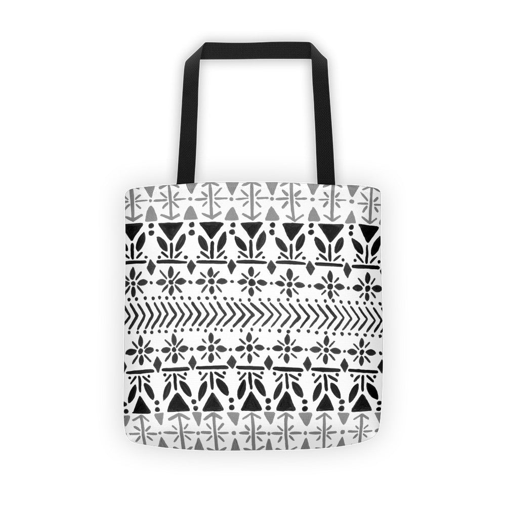Norwegian Pattern – Black Palette • Tote Bag