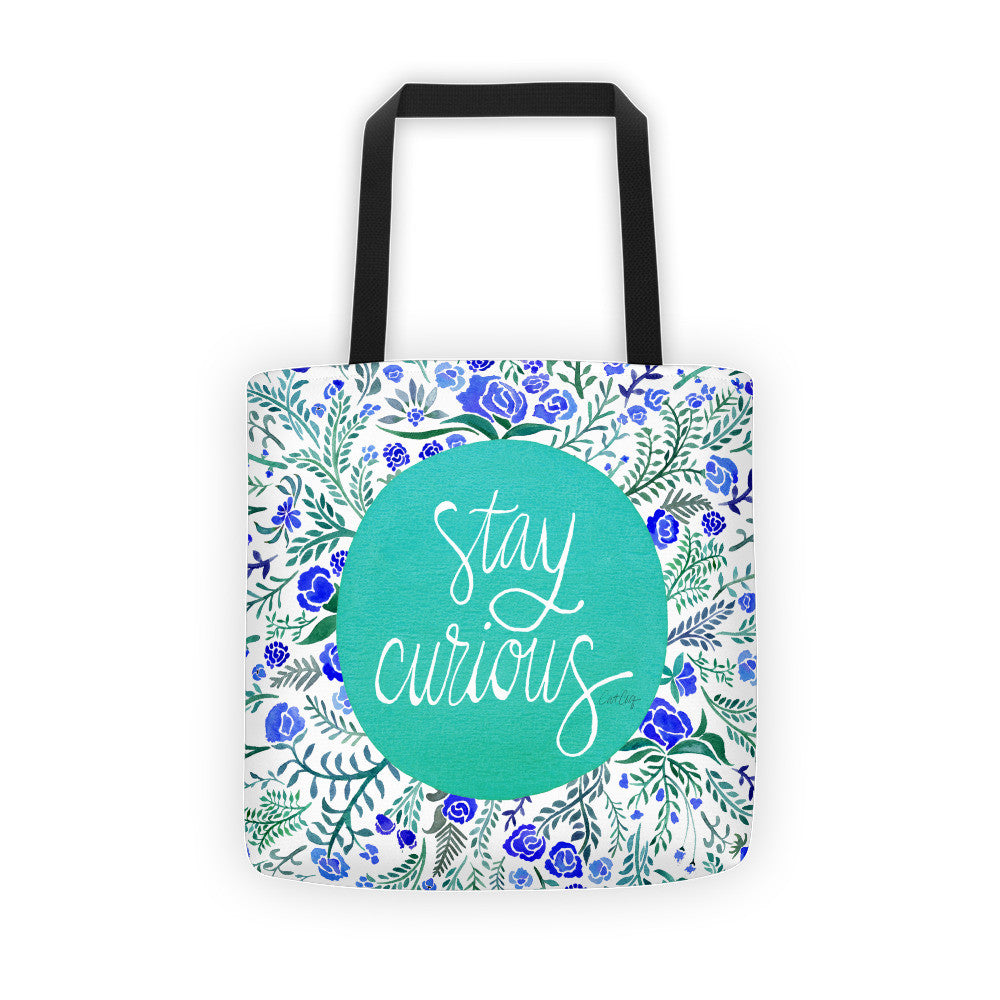 Stay Curious – Turquoise & Blue Palette • Tote Bag