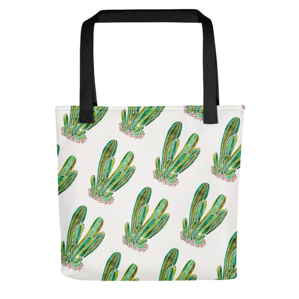 Cactus Cluster – Green Palette • Tote Bag