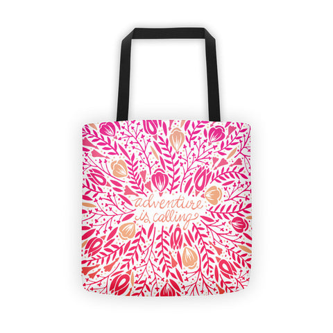 Adventure is Calling – Pink Palette  •  Tote Bag