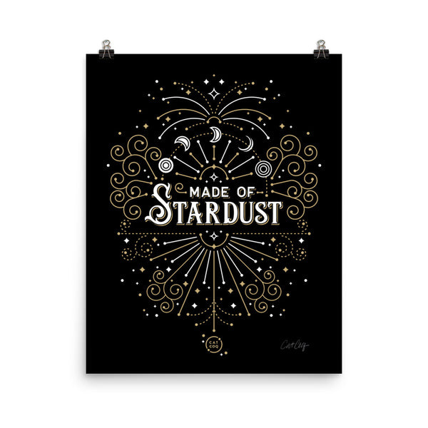 Made of Stardust – Black & Gold Palette • Art Print