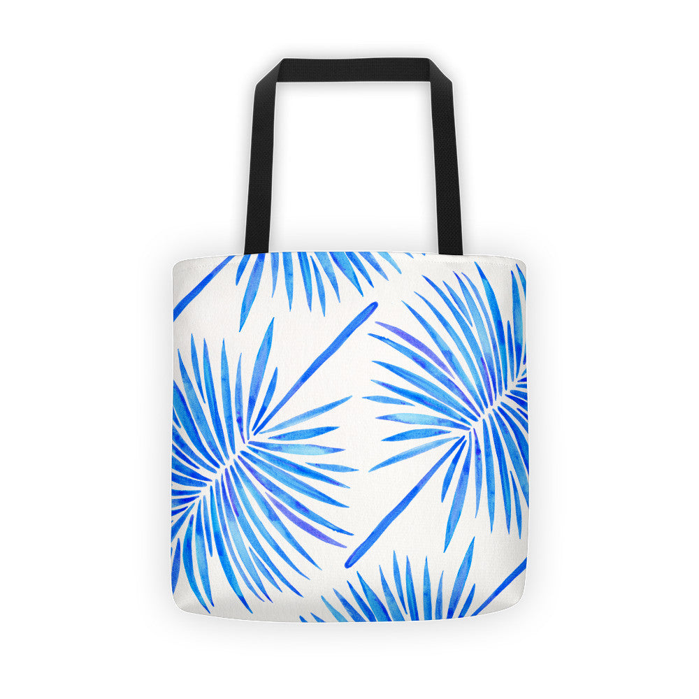 Fan Palm – Blue Palette  •  Tote Bag