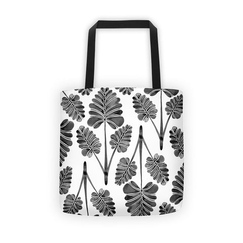 Palm Leaf Trifecta – Black Palette • Tote Bag