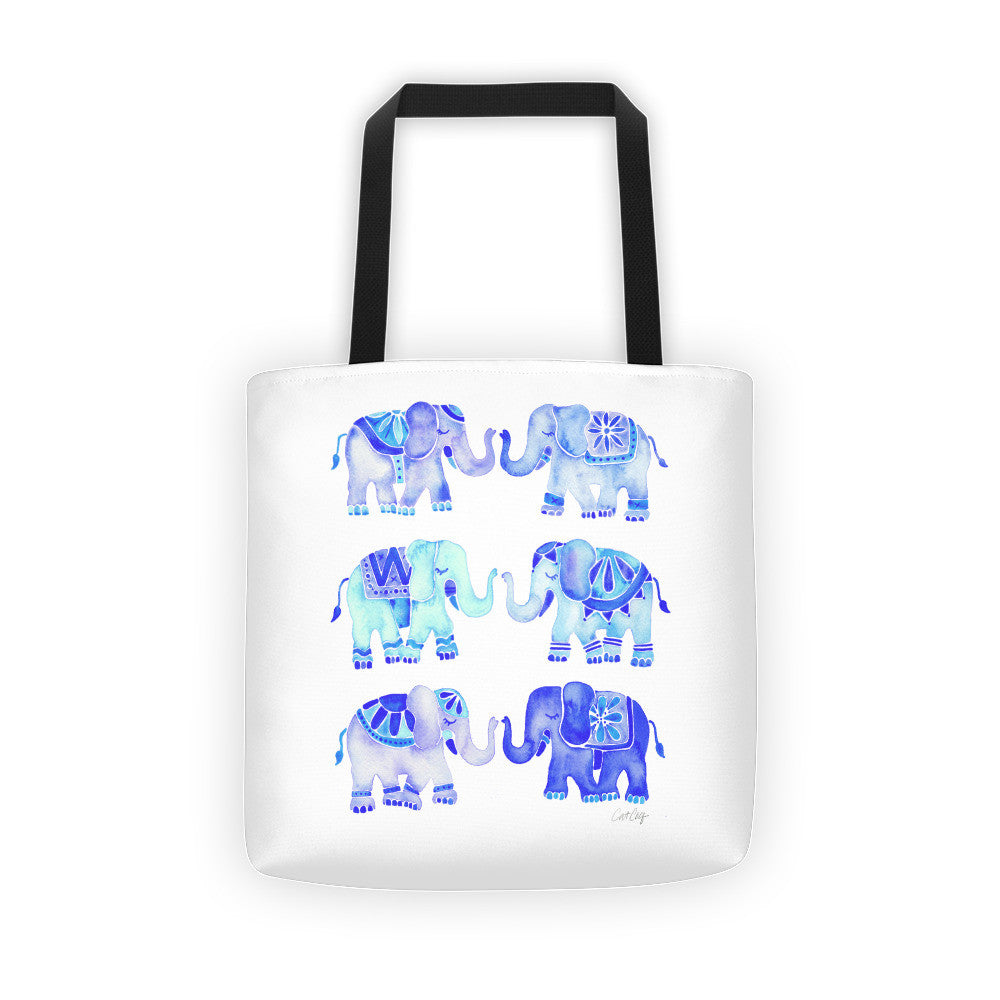 Elephant Collection – Blue Palette • Tote Bag