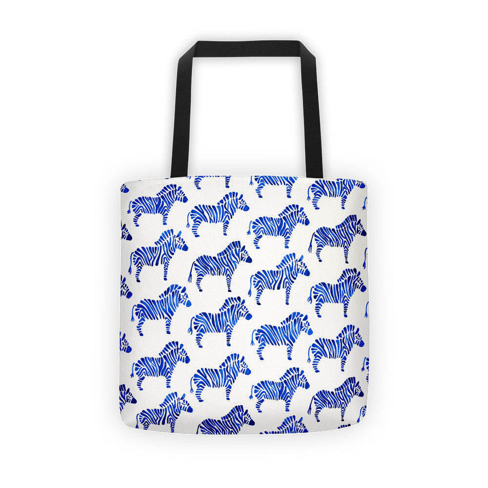 Zebra Collection – Navy Palette  •  Tote Bag
