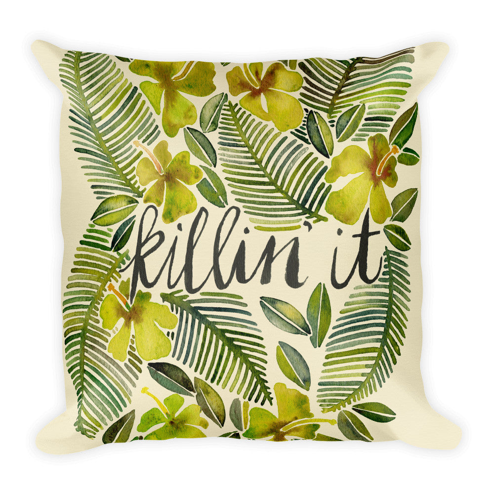 Killin' It – Yellow Palette  •  Square Pillow