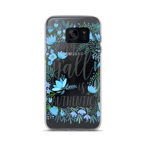My Y'all is Authentic – Blue Palette • Samsung Case (Transparent)
