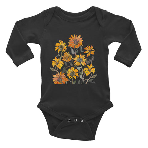 Sunflowers – Yellow Palette • Infant Long Sleeve Bodysuit