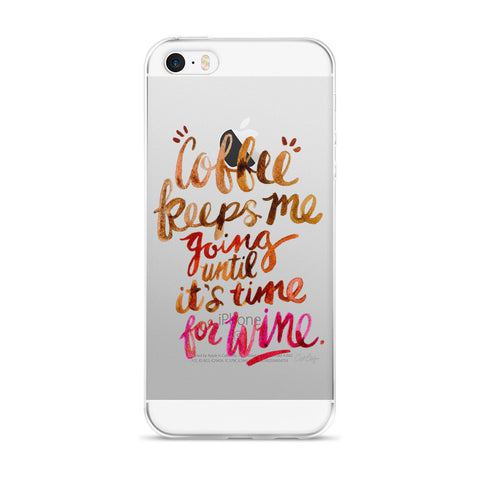 Coffee & Wine – Ombré Palette  •  iPhone 5/5s/Se, 6/6s, 6/6s Plus Case (Transparent)