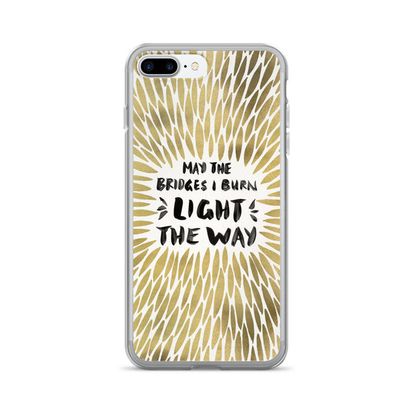 Bridges Burned – Golden Burst • iPhone 7/7 Plus Case