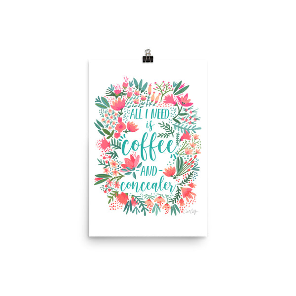 Coffee & Concealer – Juicy Palette • Art Print