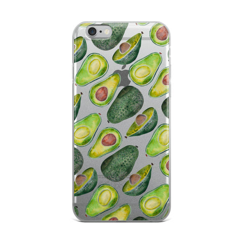Avocado Slices • iPhone Case (transparent)