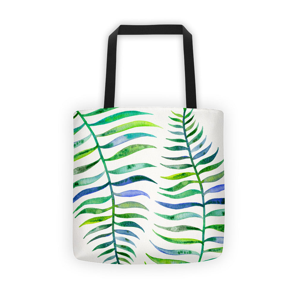 Palm Leaf – Green Palette  •  Tote Bag