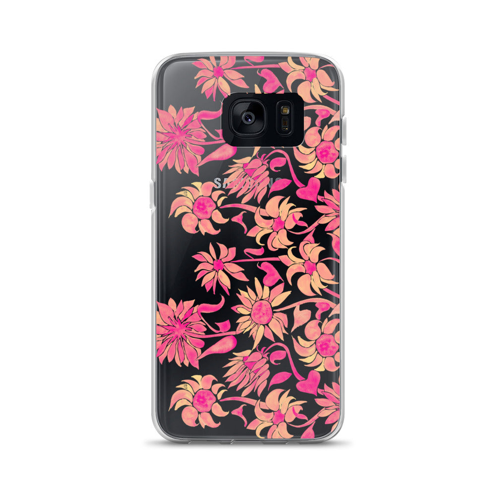 Sunflower Watercolor – Pink Palette • Samsung Case