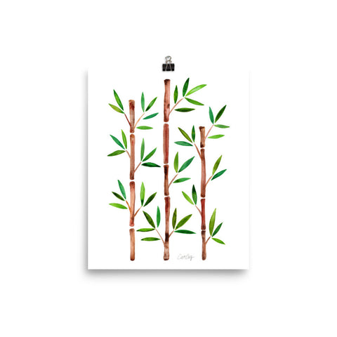 Bamboo – Green & Brown Palette • Art Print