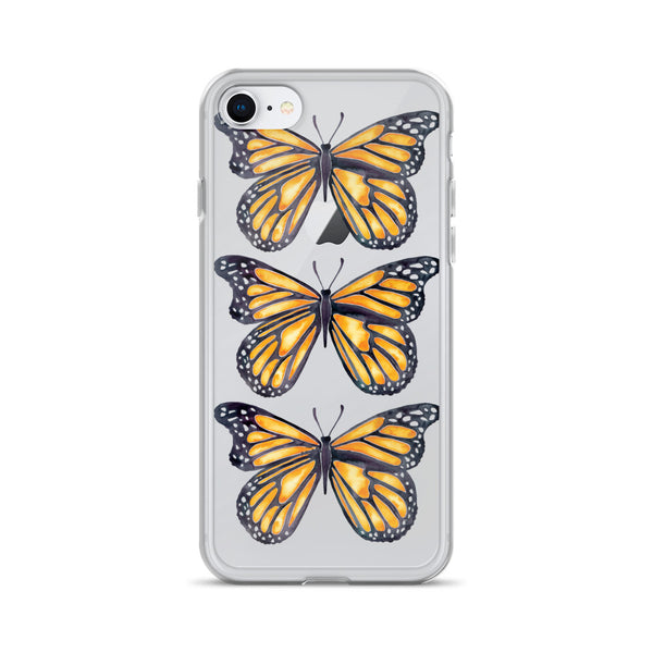 Butterfly – Monarch Orange Palette • iPhone Case (Transparent)