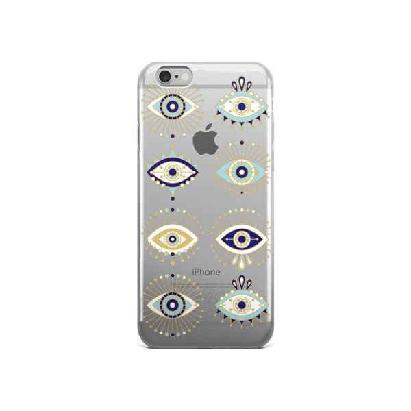 Evil Eyes  •  iPhone 5/5s/Se, 6/6s, 6/6s Plus Case (Transparent)