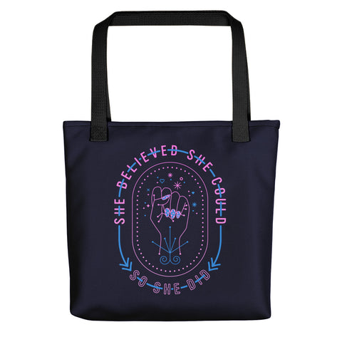 She Believed – Intergalactic Palette • Tote Bag