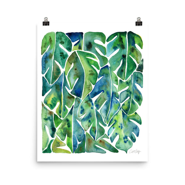 Split Leaf Philodendron – Green Palette • Art Print
