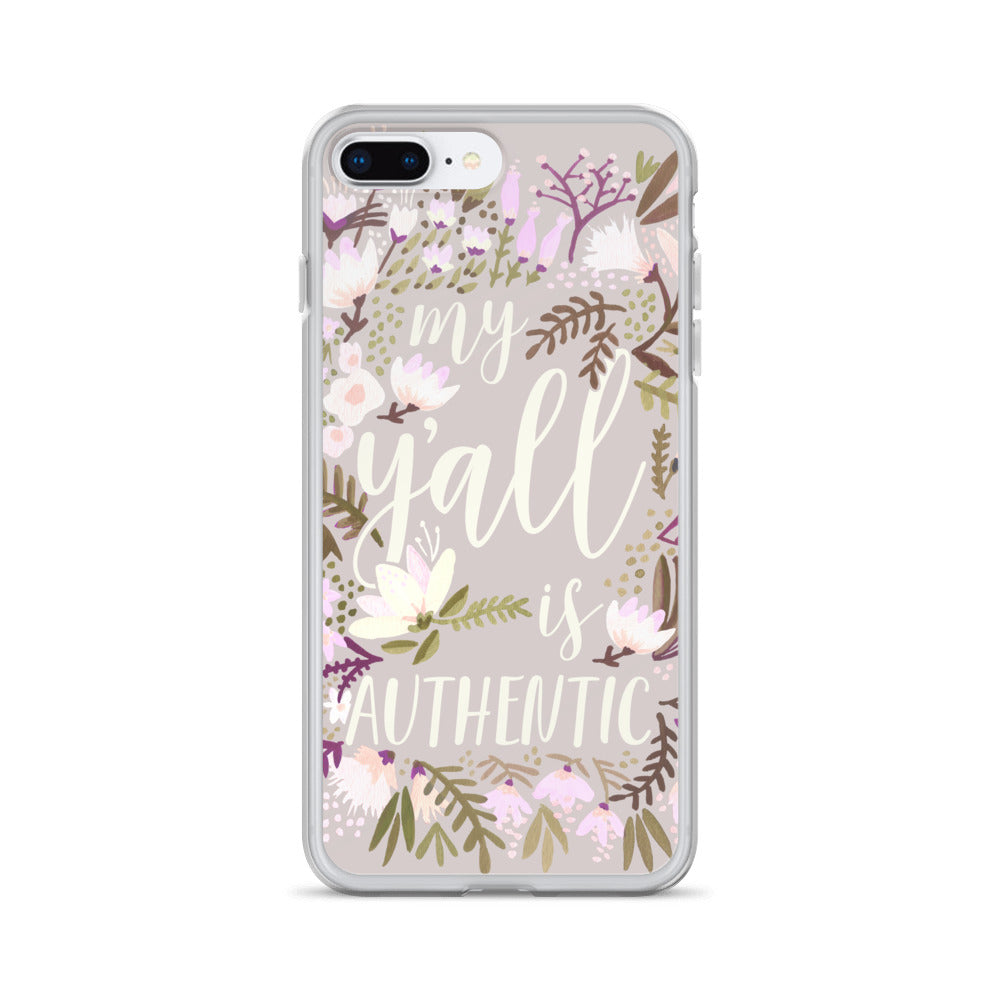 My Y'all is Authentic – Spring Palette • iPhone Case
