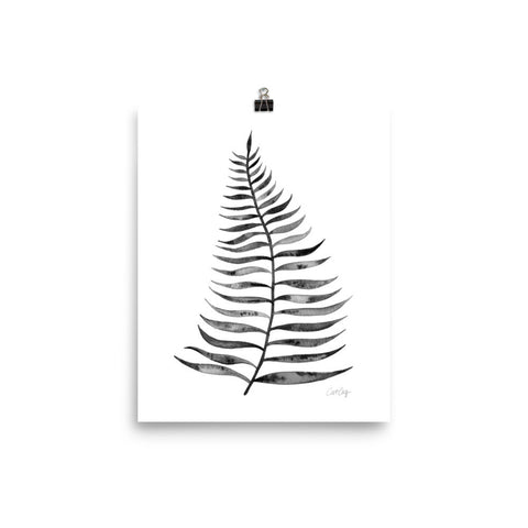 Palm Leaf – Black Palette  •  Art Print