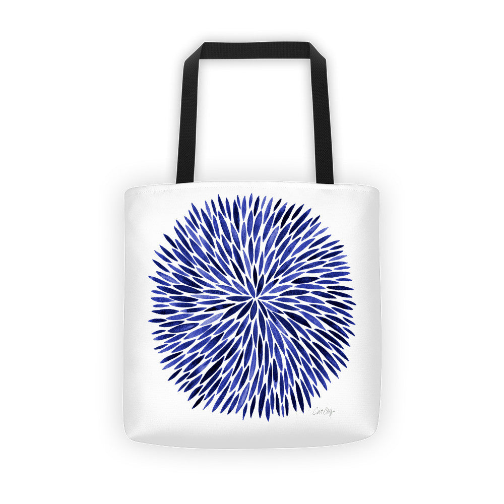 Watercolor Burst – Navy Palette  •  Tote Bag