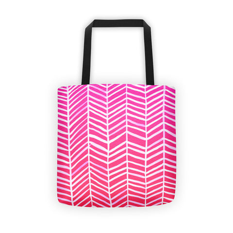 Herringbone – Hot Pink Palette • Tote Bag