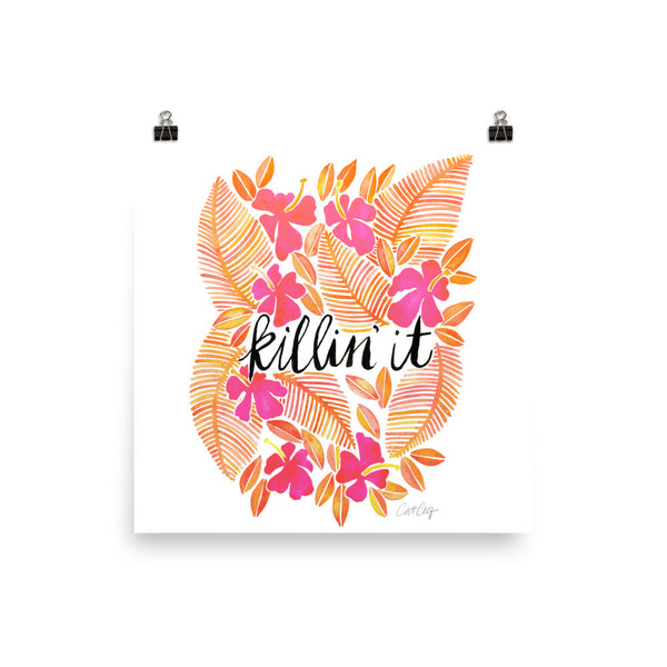 Killin' It – Melon Ombré Palette • Art Print