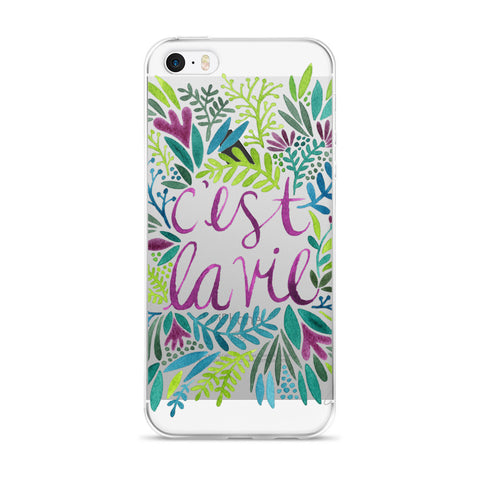 That's Life – Spring Palette  •  iPhone 5/5s/Se, 6/6s, 6/6s Plus Case (Transparent)
