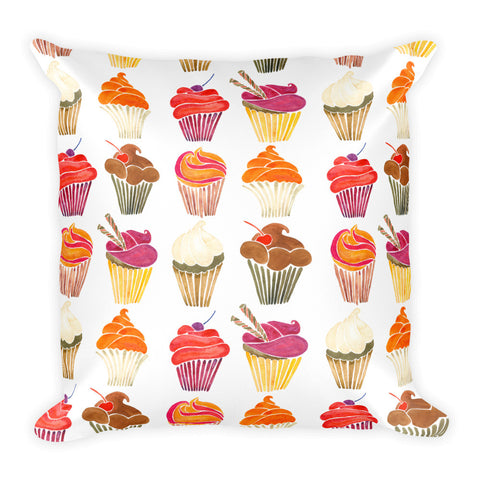 Cupcakes – Rainbow Palette  •  Square Pillow