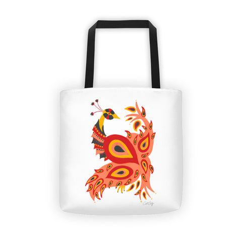 Peacock – Fiery Palette • Tote Bag