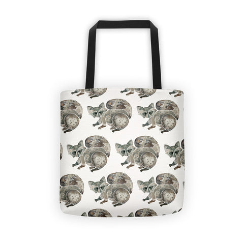 Raccoon – Warm Grey  •  Tote Bag