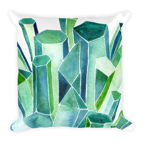 Emeralds • Square Pillow