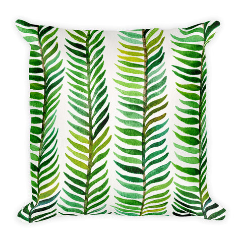 Stems – Green Palette  •  Square Pillow