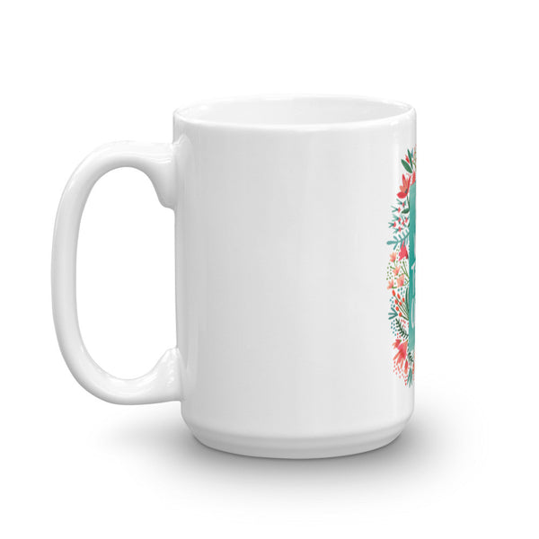 Eat Well, Travel Often – Floral Bouquet • Mug